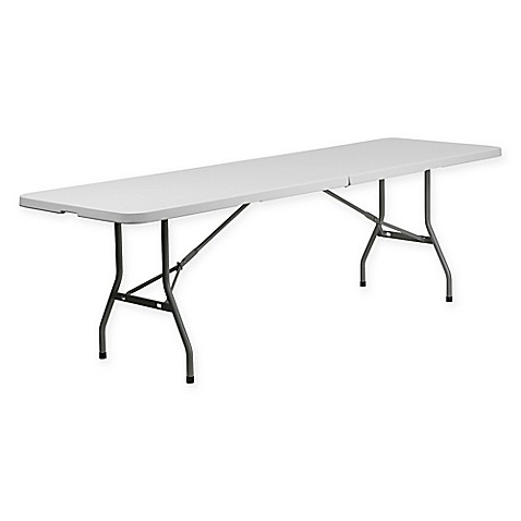 Buy Flash Furniture Bi Fold Plastic 8 Foot Folding Table