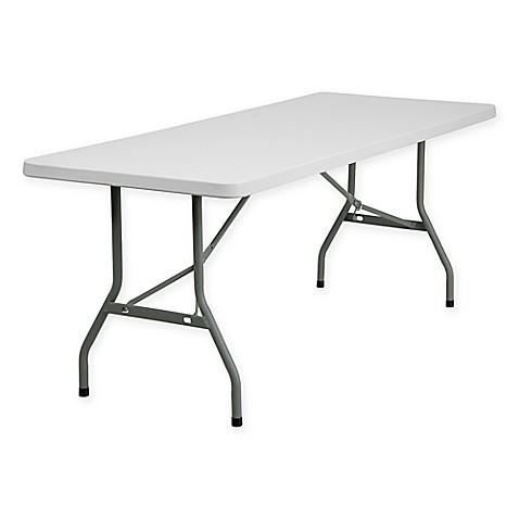 buy flash furniture granite white plastic 6 foot folding table from bed bath beyond. Black Bedroom Furniture Sets. Home Design Ideas