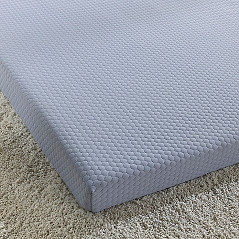 Simmons Siesta 3 Inch Roll Up Memory Foam Twin Mattress In Blue Bed Bath Beyond