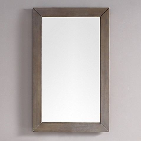 Buy james martin furniture chicago 42 inch x 26 inch rectangular mirror in white washed walnut for White rectangular bathroom mirror