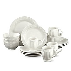 image of Lenox® French Perle Groove 16-Piece Dinnerware Set in White