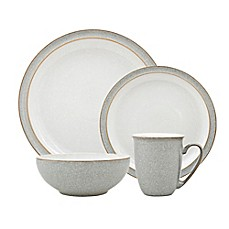 image of Denby Elements 4-Piece Place Setting in Light Grey