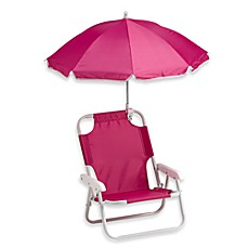 Redmon Baby Beach Chair With Umbrella In Pink