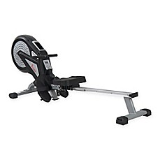image of Sunny Health & Fitness Air Magnetic Rower in Black