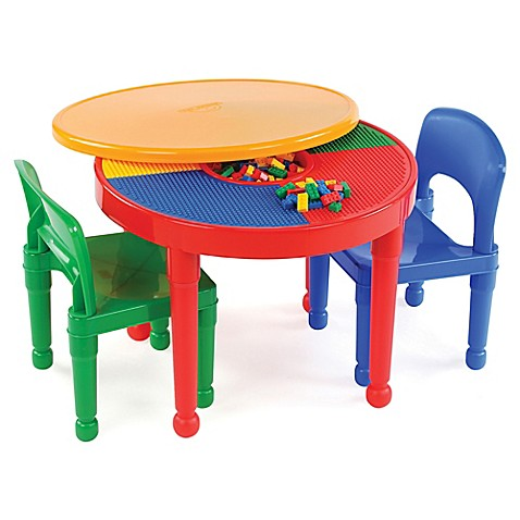 Tot Tutors 2-In-1 LEGO®-Compatible Activity Table and Chair Set ...