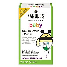 image of Zarbee's® 2 oz. Naturals Baby Cough Syrup + Mucus in Natural Grape Flavor