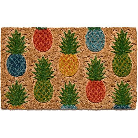 Pineapple Pattern18 Inch X 30 Inch Coir Door Mat Bed