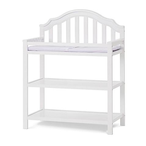 child craft penelope changing table in matte white bed. Black Bedroom Furniture Sets. Home Design Ideas
