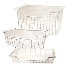 image of Easy Track Wire Basket in White
