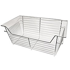 image of Easy Track 14-Inch Wire Basket in Chrome