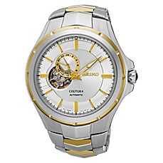 image of Seiko Men's 43.5mm Coutura Automatic Watch in Stainless Steel with Silver Dial