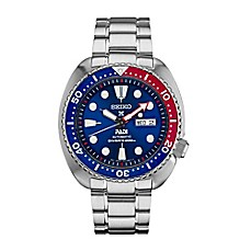 image of Seiko Men's 45mm Automatic Driver Prospex Watch in Stainless Steel with Blue Dial