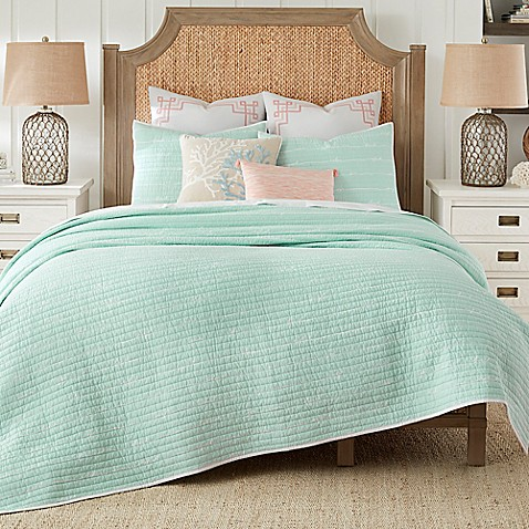 Coastal Living Sand Script Quilt Set Bed Bath Beyond