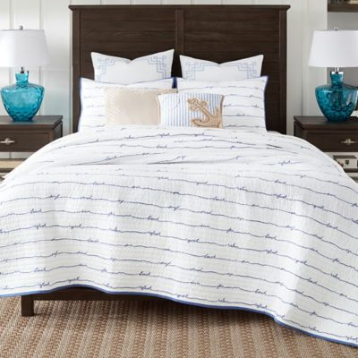 Coastal Living 174 Sand Script Quilt Set Bed Bath Amp Beyond