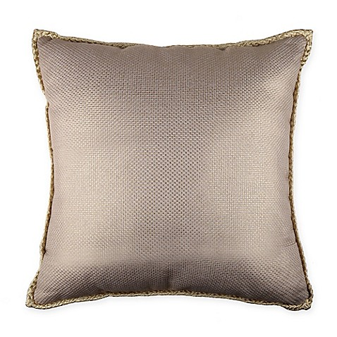 Gold Foil Decorative Pillow : Buy Foil Printed Square Throw Pillow in Gold from Bed Bath & Beyond