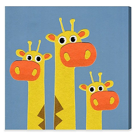 Olivia\'s Easel Giraffe Canvas Wall Art - Bed Bath & Beyond