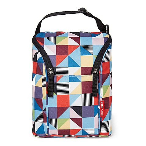 Skip Hop Grab & Go Double Bottle Bag in Prism Print - Bed Bath & Beyond