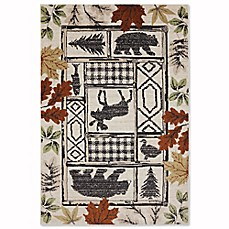 image of Mohawk Home Madison Autumn Leaves Rug in Linen
