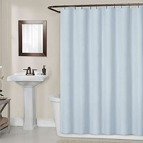 Buy Titan 70 Inch X 72 Inch Waterproof Fabric Shower Curtain Liner In Blue From Bed Bath Beyond