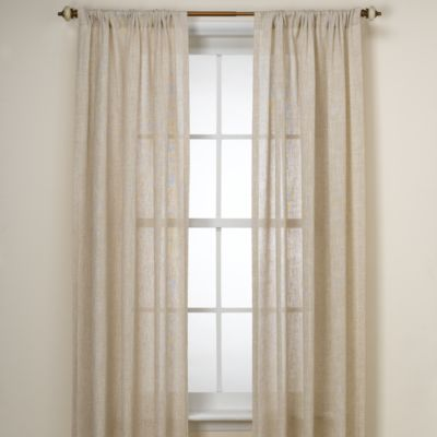 image of B. Smith Barbados Natural Window Curtain Panel