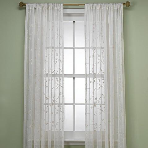 B Smith Bermuda Window Curtain Panel In Ivory Bed Bath