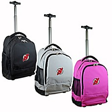 image of NHL New Jersey Devils 19-Inch Wheeled Backpack