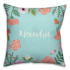 image of Designs Direct Little Lady Collection Floral and Polka Dot Children's Pillow in Blue/Pink