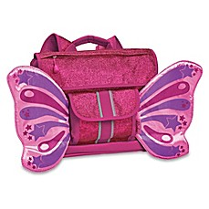 image of Bixbee Sparkalicious Butterflyer Backpack in Purple/Pink