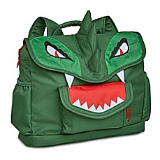 image of Bixbee Dino Pack Backpack in Green/Red