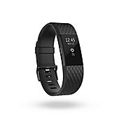 image of Fitbit® Charge 2™ Wireless Activity Wristband in Gunmetal Black
