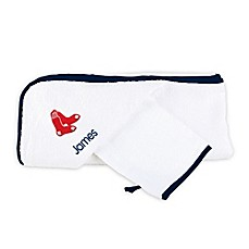 image of Designs by Chad and Jake MLB Boston Red Sox Personalized Hooded Towel Set