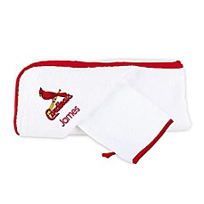 image of Designs by Chad and Jake MLB St. Louis Cardinals Personalized Hooded Towel Set