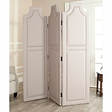 image of safavieh darcy room divider screen in taupe