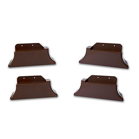 recliner risers in brown set of 4 bed bath beyond