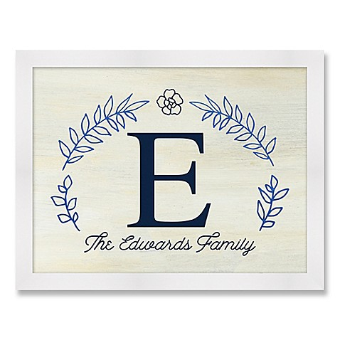 Letter of Last Name Framed Wall Art - Bed Bath & Beyond
