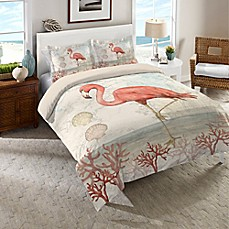 image of Laural Home® Coastal Flamingo Comforter