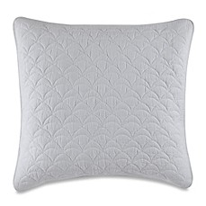 image of barbara barry feathered floral european pillow sham in white - Barbara Barry Bedding