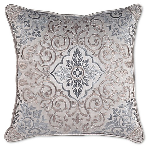 Buy Croscill Gabrijel Fashion Square Throw Pillow in Slate Blue from Bed Bath & Beyond