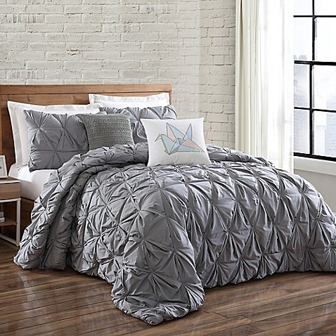 gray bed sets buy loom jackson pleat xl mini comforter set 11714