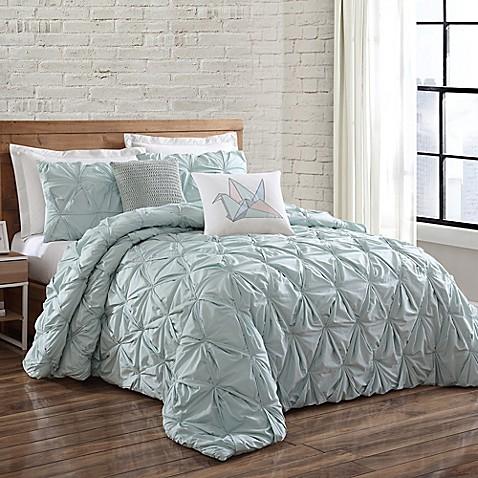 Buy brooklyn loom jackson pleat full queen mini comforter for Brooklyn loom bedding
