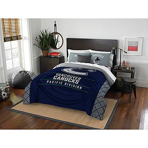 Bedroom Sets Vancouver nhl vancouver canucks draft comforter set - bed bath & beyond