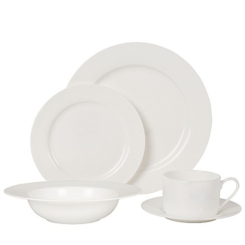 image of nevaeh white by fitz and floyd rim dinnerware collection