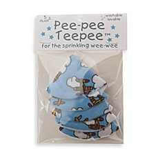 image of beba bean 5-Pack Pee-Pee Teepee™ in Bi-Plane