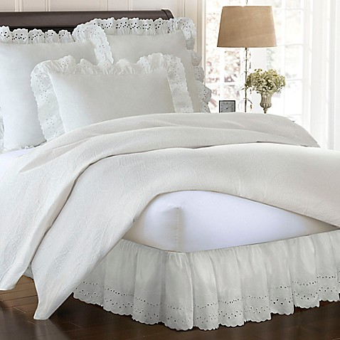 Buy Smootheweave Ruffled Eyelet 14 Inch Twin Bed Skirt In