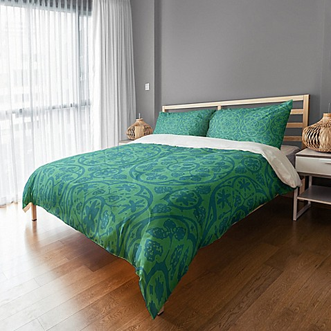 buy boho king duvet cover in teal from bed bath beyond. Black Bedroom Furniture Sets. Home Design Ideas