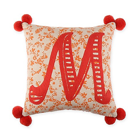 Letter M Throw Pillow : Monogram Letter