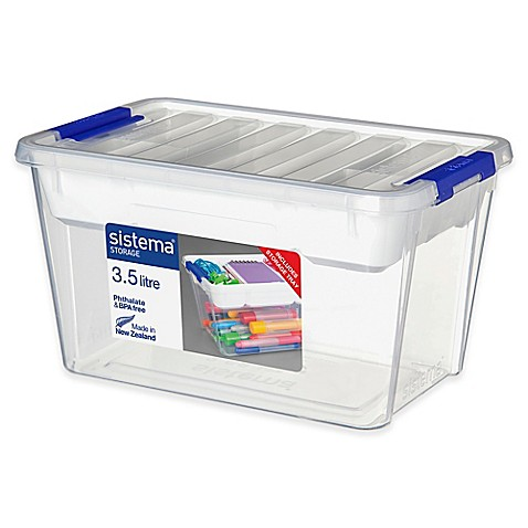 Buy sistema 3 5l storage bin with tray and lid from bed for Bat box obi