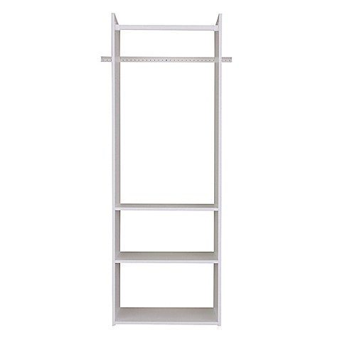 buy easy track hanging tower kit in white from bed bath beyond. Black Bedroom Furniture Sets. Home Design Ideas