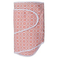 image of Miracle Blanket® Swaddle in Coral Lattice