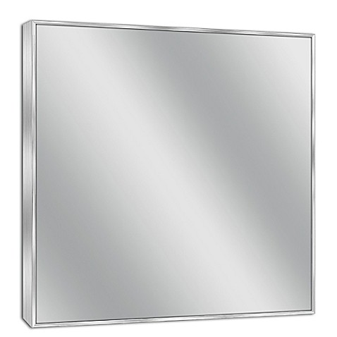 Buy Spectrum 30 Inch X 36 Inch Rectangular Framed Wall Mirror In Brushed Nickel From Bed Bath